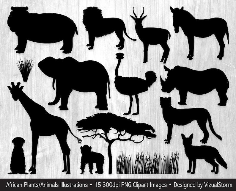 photo regarding Free Printable Forest Animal Silhouettes identify African Animal Silhouettes Clipart Safari Jungle Pets Serengeti Wildlife Graphics Wild Animal Africa Silhouette Safari Sbook Clipart