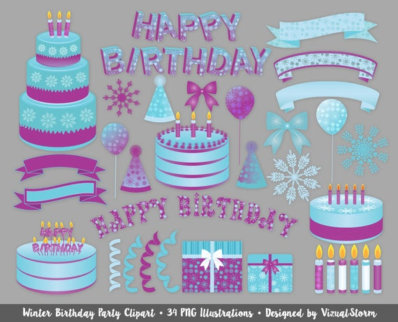 Peachy Winter Frost Birthday Clipart Icey Party Theme Freezing Cold Etsy Personalised Birthday Cards Akebfashionlily Jamesorg