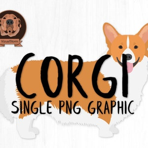 Pembroke Welsh Corgi Clipart Red and White Fawn Sable Black and Tan Tricolor Digital Dog Clipart Corgi Breeds Hand Drawn Corgi Illustrations