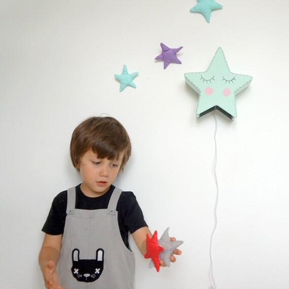 Mint gr n kindergarten baby licht kinderzimmer wandleuchte etsy - Licht kinderzimmer ...
