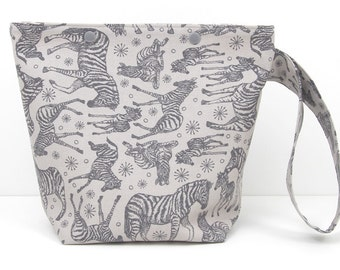 Gray And Zebra Bag Etsy