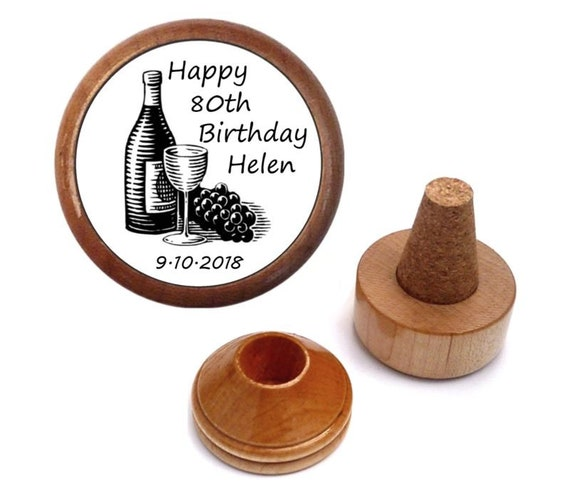 Personalized 80th Birthday Gift Wine Stopper For Women Her