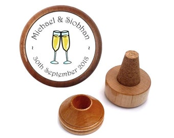 Personalized Wedding gift present for bride & groom - couple | Personalised wedding wine bottle stopper set | Wedding wine favors