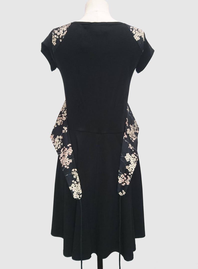 ad138185068 Kimono dress in jersey and sakura japanese fabric FUJI