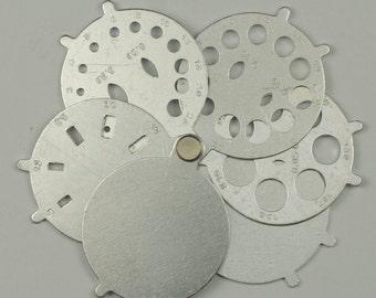Diamond stone guage sizer 1/100 - 2 Carats round & baguette diamonds stones