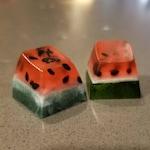 Watermelon Artisan Keycap Blank - MT3 Profile - Cherry MX Stem - Made to order