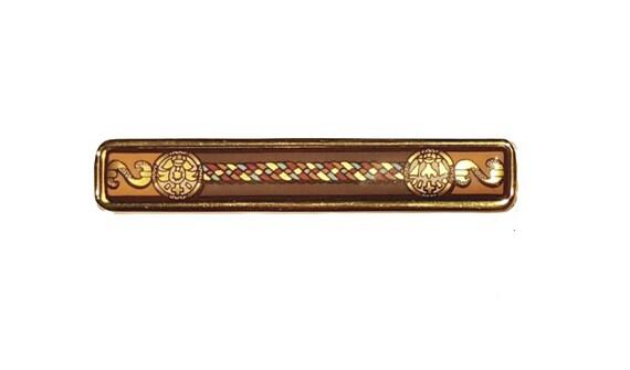 Vintage 80s Hermés Baroque Gold-Plated Cloisonné P