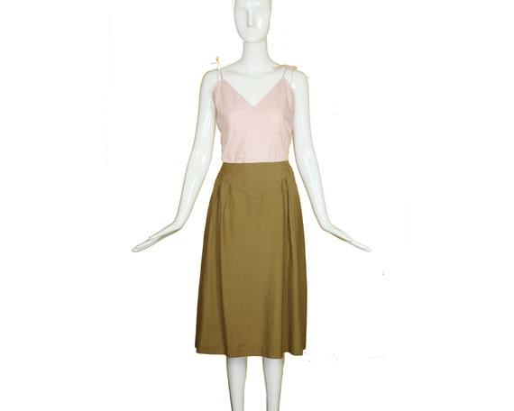 Minimalist 70s/80s Linen Suit/Taupe Linen Skirt J… - image 10