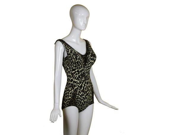 60S/70s Cole LEOPARD Swimsuit/Animal Print Swimsu… - image 3