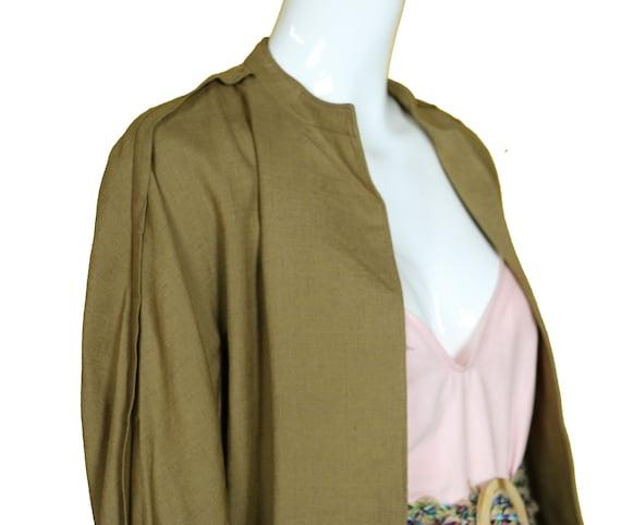 Minimalist 70s/80s Linen Suit/Taupe Linen Skirt J… - image 6