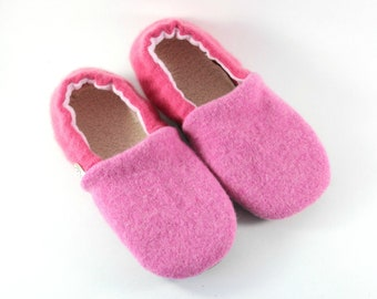817383a7ec3 Kids Wool Slippers - Gift for Daughter - Girls Slippers - Pink Slippers -  Gift for Little Girl