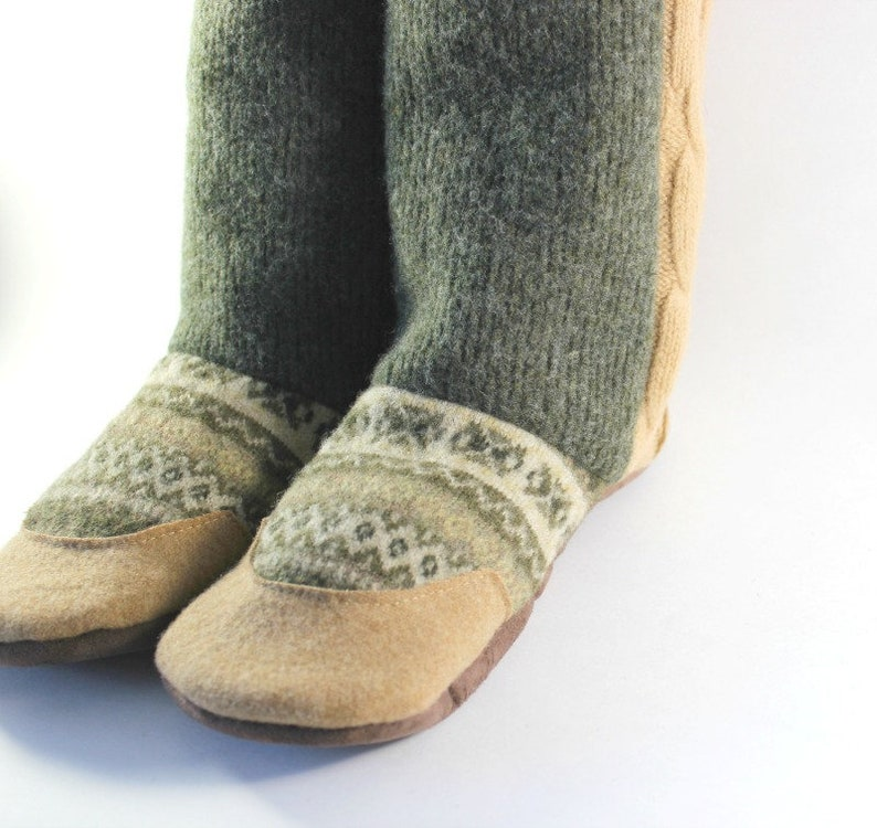 17e95055d5b31 Women's Wool Slippers size 7-8 - Gift for Wife - Gift for Teen
