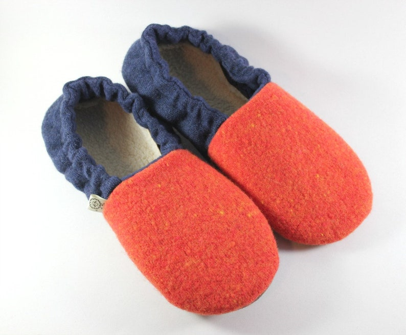 13f6cba3a9572 Womens Wool Slippers size 7-8 - Football Fan Gift - College Student Gift
