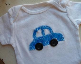 Car Appliqued Onesie