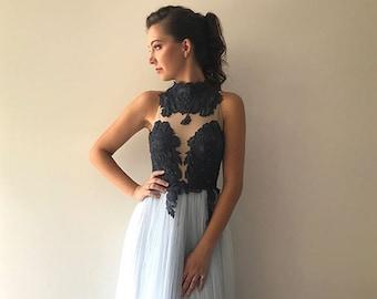Briella Gown - High Neck Tulle Ballgown