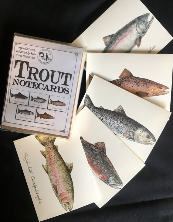 Holiday Christmas Cards TROUT STEELHEAD pack of 10!