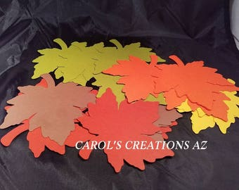 """20 4"""" Fall Leaves / Autumn Leaves / Autumn Leaf Die Cut / Maple Leaf Die Cut / Maple Leaves / Maple Autumn Leaves / ANY COLORS"""