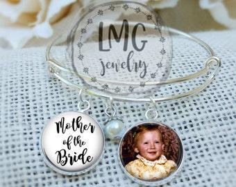 Mother of the Bride Bracelet Custom Mother of the Bride Bracelet, Mother of the Bride Photo Jewelry