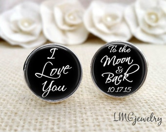 Groom Cufflink, Custom Wedding Cufflink, From This Day Forward, Cufflinks for Groom, Wedding Cufflinks