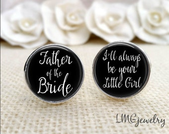 Wedding Cufflinks, Father of the Bride Custom Photo Cufflinks, Father of the Bride Cufflinks, Custom Wedding Cufflinks, Wedding Keepsake