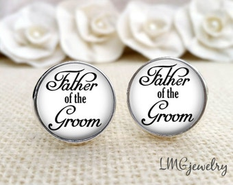 Father of the Groom Cufflinks, Wedding Cufflinks, Father of the Groom Gift, Gift for Dad, Wedding Gift, Father of the Groom