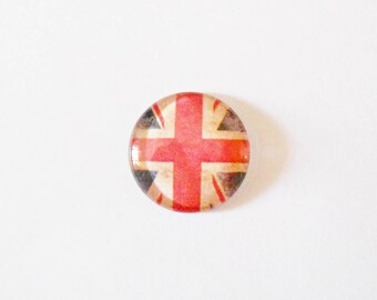 1 vintage cabochon handmade Union Jack for medium 25 mm