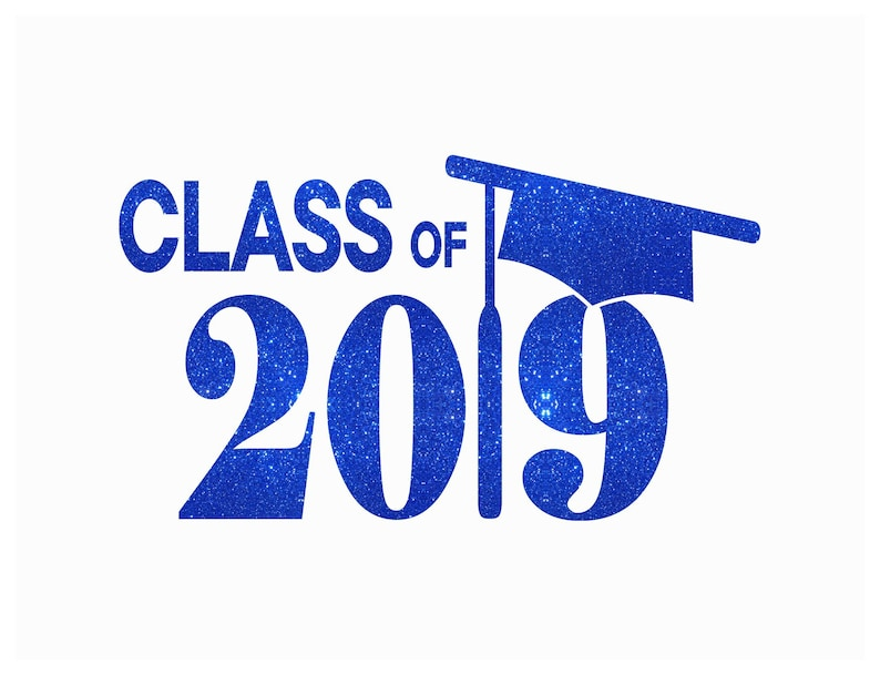 21a41551 Custom Graduation Cap Class Of 2019 Iron On Vinyl Or Glitter | Etsy