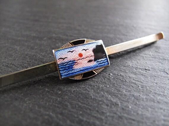 Aksel Holmsen modern enamel tie bar  tie slide
