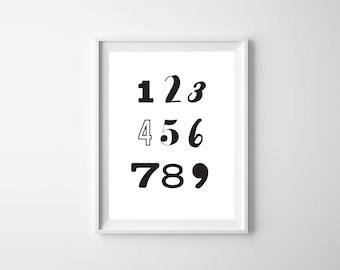 INSTANT DOWNLOAD - The 'Count' Nursery Wall Art Poster | Gift | Nursery Art | Wall Art | Numbers | Monochrome | Counting