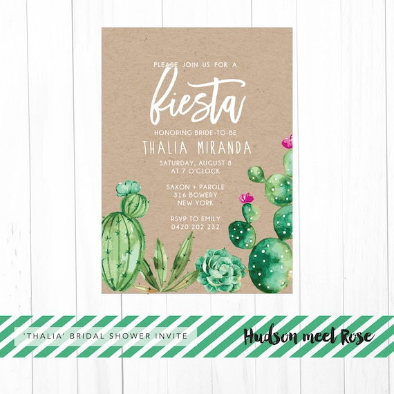 763b15cf9f44 Printable - The  Thalia  Watercolor Mexican Fiesta Bridal Shower ...