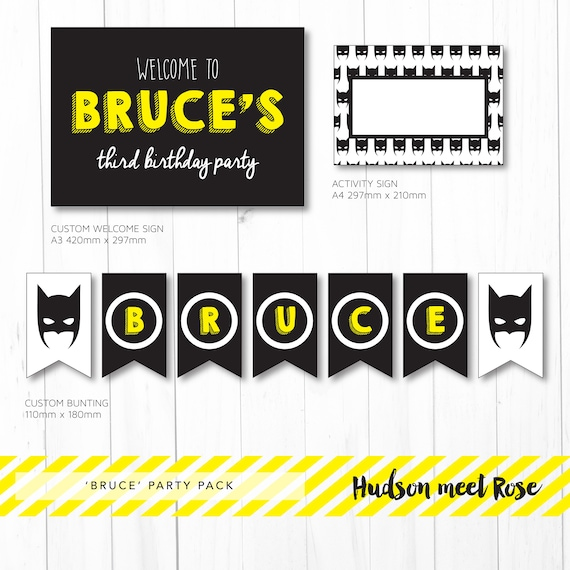 photo relating to Batman Cupcake Toppers Printable named Printable - The Bruce aka Batman Birthday Bash Pack