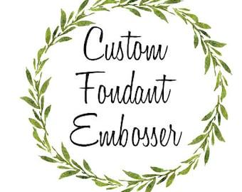 Custom Fondant Embosser - Custom Embosser- Any text you like - 1, 2 or 3 lines available.