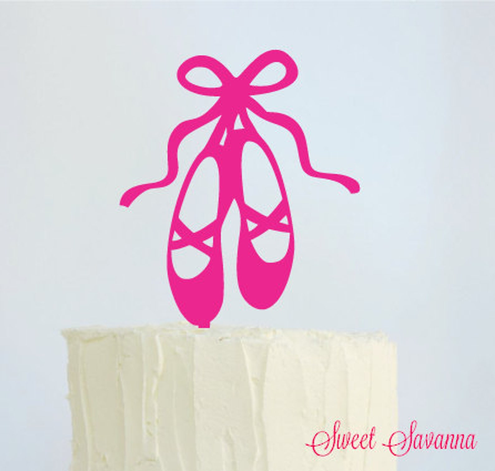ballet shoes cake topper made in australia