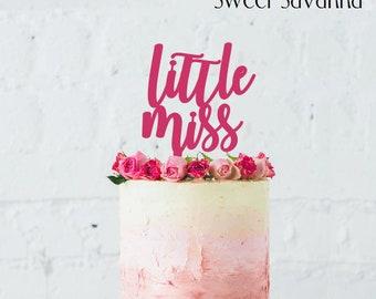 Little Miss Cake Topper N1- birthday cake topper - MADE IN AUSTRALIA