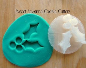 Holly Leaf Embosser N2 - Great for Christmas Cookies!