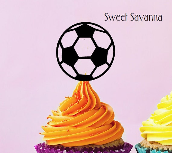 Soccer Ball Cupcake Toppers - Acrylic Cake Topper