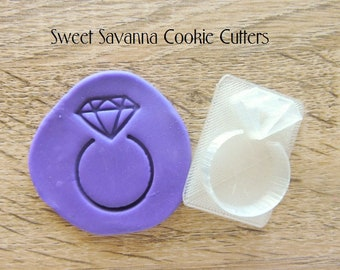 Diamond Ring Embosser- Great for Wedding or Engagement Cookies