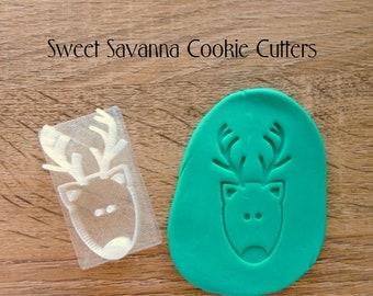 Reindeer Head Embosser - Great for Christmas Cookies!