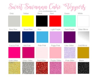 Cake Toppers- Current Colours MADE IN AUSTRALIA