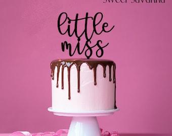 Little Miss Cake Topper N2- birthday cake topper - MADE IN AUSTRALIA