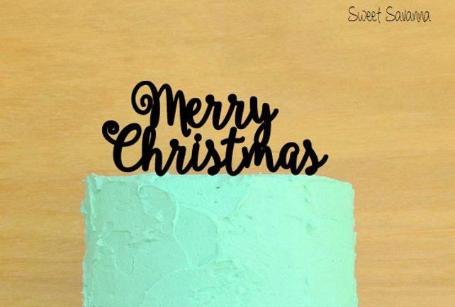 Merry Christmas Cake Topper No2