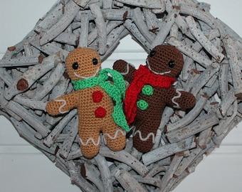 Gingerbread men Rob and Tob crochet instructions