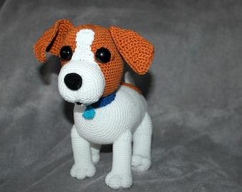 Jack Russel crochet pattern german version