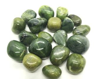 Nephrite Jade tumbled stone 10-30mm
