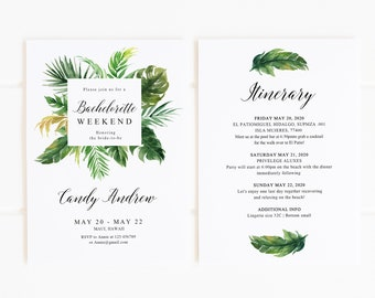 beach bachelorette invitation etsy