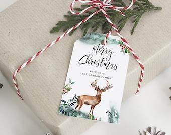 christmas tags etsy