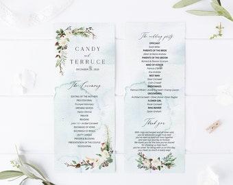 winter wedding programs etsy