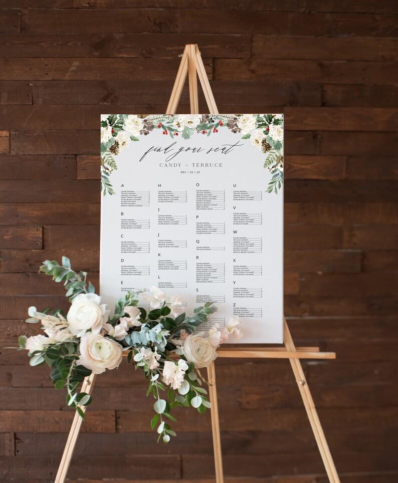 Tableau Matrimonio Natalizio : Tableau marriage natalizio con bacche acquerello tableau etsy