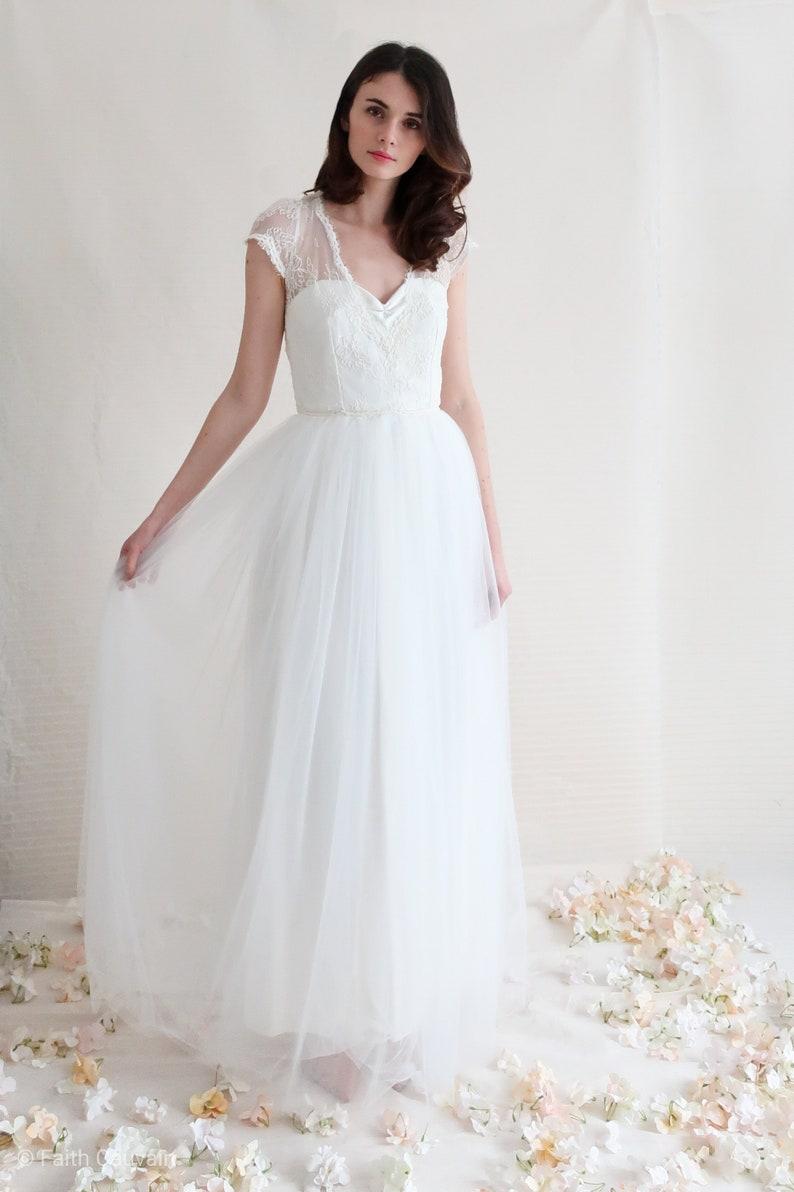 Robe mariée tulle dentelle Faith Cauvain