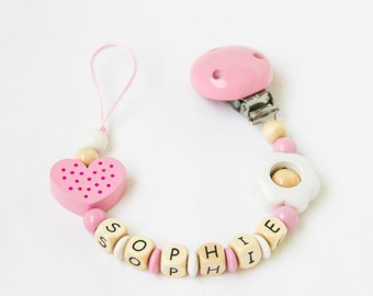 Personalized Pacifier Clip - Pacifier Clip - Personalized Dummy Clip - Pacifier Holder - Soother Holder - Dummy Clip - Baby Girl Gift